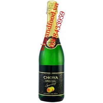 Rượu Mơ Choya Original Sparkling 75cl