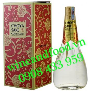 Rượu Mơ Choya Sake Gold Flakes vảy vàng 720ml
