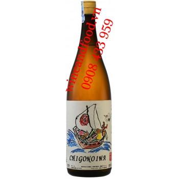 Rượu Sake Chigonoiwa Kasen Takarabune Label 1l8