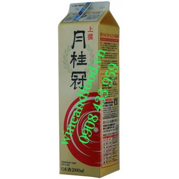 Rượu Sake Gekkeikan Josen Pack hộp giấy 2 Lít