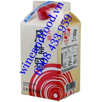 Rượu Sake Gekkeikan Josen Pack hộp giấy 900ml