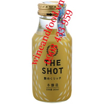 Rượu Sake Gekkeikan The Shot Rich Honjozo 180ml