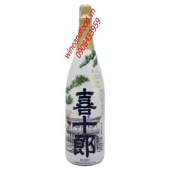 Rượu Sake Hakushika Tokusen Kijuro Hon Jozo 1l8