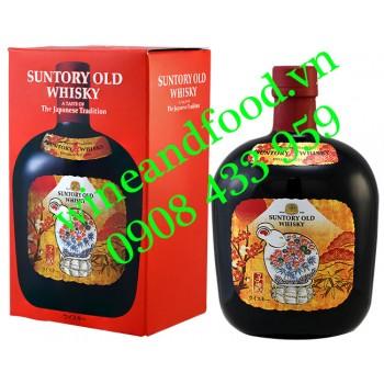 Rượu Whisky Nhật Suntory Old Whisky phiên bản Linh Vật 700ml
