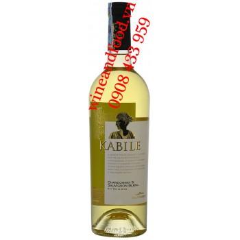 Rượu vang trắng Kabile Chardonnay Sauvignon Blanc 750ml