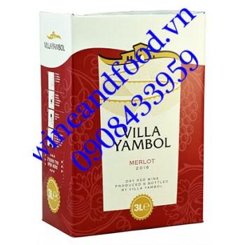 Rượu vang Villa Yambol Merlot 3l