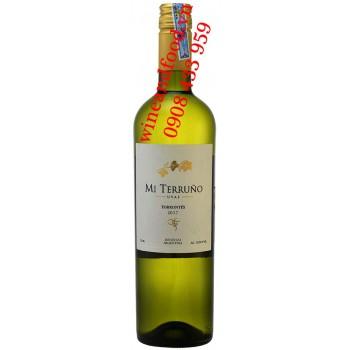 Rượu vang trắng Mi Terruno Torrontés 750ml