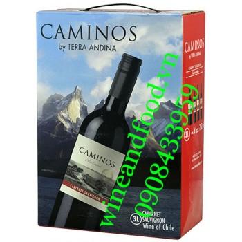 Rượu vang Caminos Cabernet Sauvignon 3l