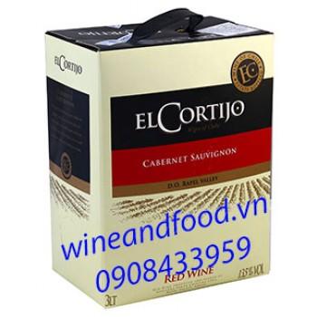 Rượu vang Elcortijo Cabernet Sauvignon 3l