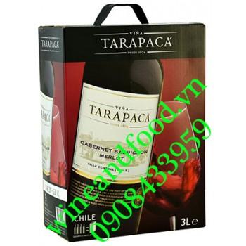 Rượu vang Tarapaca Merlot Carmenere bình 3l
