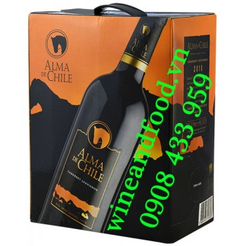 Rượu vang Alma de Chile Cabernet Sauvignon bịch 3 Lít