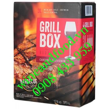 Rượu vang Grill Box Cabernet Sauvignon Bịch 3l