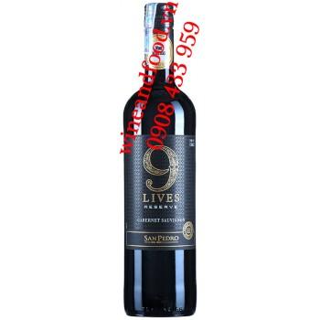 Rượu vang 9 Lives San Pedro Reserve Cabernet Sauvignon 750ml