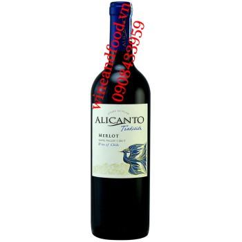 Rượu vang Alicanto Tradicion Merlot 750ml