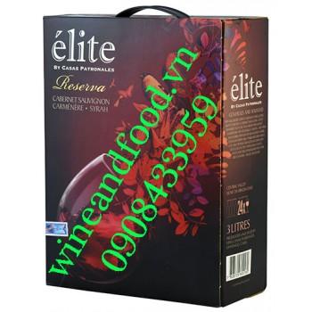 Rượu vang élite Reserva bịch 3L