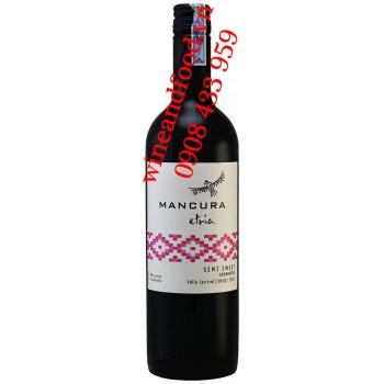 Rượu vang Mancura Etria Carmenere Semi Sweet 750ml