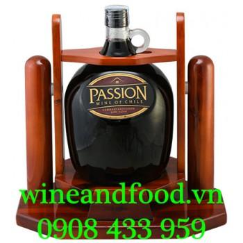 Rượu vang Passion Cabernet Sauvignon kệ gỗ 3l