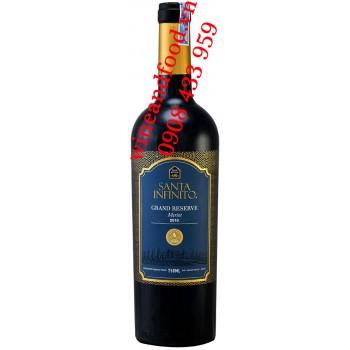 Rượu vang Santa Infinito Grand Reserve Merlot 750ml