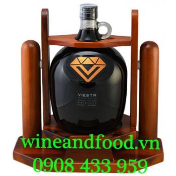Rượu vang Viesta Cabernet Sauvignon 3 lít có kệ gỗ