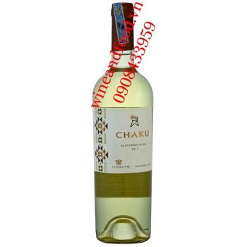 Rượu vang Chaku Sauvignon Blanc trắng 750ml
