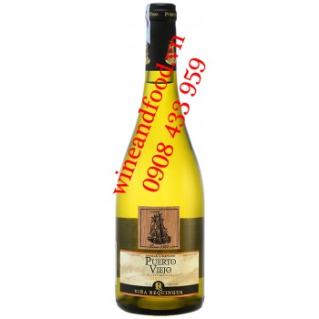 Rượu vang Puerto Viejo Vina Requingua Chardonnay 750ml