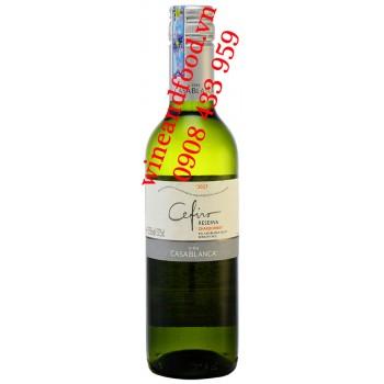 Rượu vang trắng Cefiro Casa Blanca Reserva Chardonnay 375ml