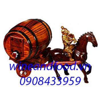 Xe ngựa kéo trống rượu Santa Chilena 3l