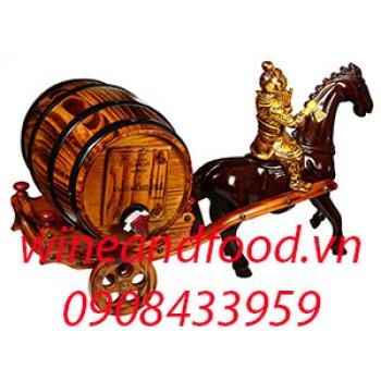 Xe ngựa kéo trống rượu Santa Chilena nhỏ