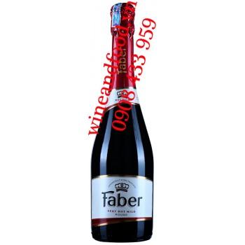 Rượu vang nổ Faber Sekt Rot Mild Rouge 750ml