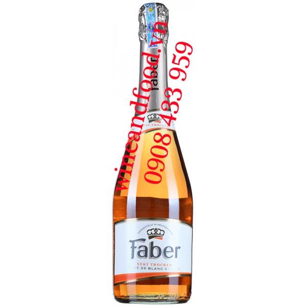 Rượu vang nổ Faber Sekt Trocken Rosé 750ml