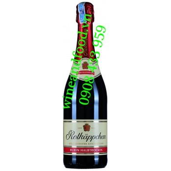 Rượu vang nổ Rotkappchen Rubin Halbtrocken 750ml