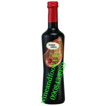 Rượu vang socola cherry Schoko Kirsch 500ml