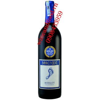 Rượu vang Barefoot Merlot California 750ml