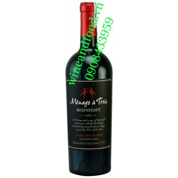 Rượu vang Menage a Frois Midnight Dark Red Blend 750ml