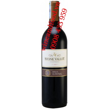 Rượu vang Stone Valley Merlot California 750ml