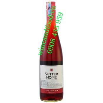 Rượu vang Sutter Home Red Moscato California 750ml