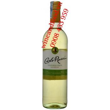 Rượu vang trắng Carlo Rossi California White 750ml