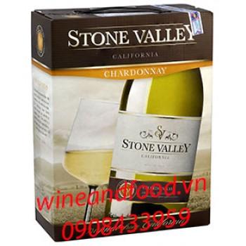 Rượu vang trắng Stone Valley Chardonnay bình 3l