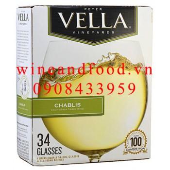 Rượu vang trắng Peter Vella Chablis 5l