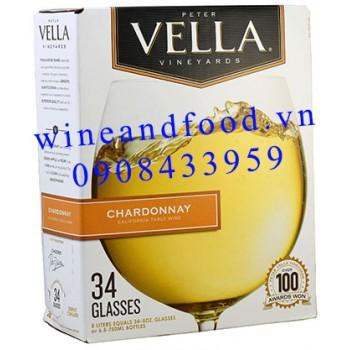 Rượu vang trắng Peter Vella Chardonnay 5l