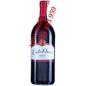 Rượu vang Carlo Rossi Merlot chai 1L5