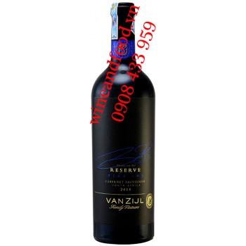 Rượu vang Vanzijl Cabernet Sauvignon Reserve 750ml