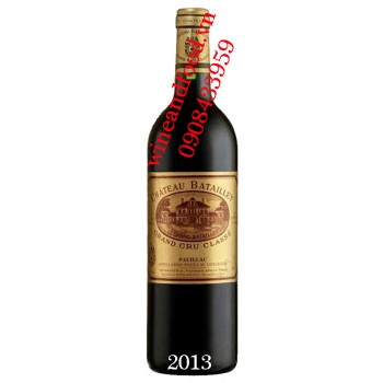 Rượu vang chateau Batailley Grand Cru Classe 2013