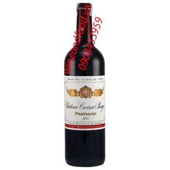 Rượu vang chateau Croizet Bages Grand Cru Classe 2011