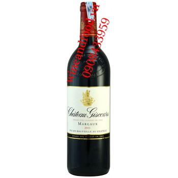 Rượu vang chateau Giscours Margaux Grand Cru Classe 2011