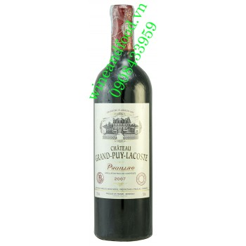 Rượu vang chateau Grand Puy Lacoste Grand Cru Classe 750ml