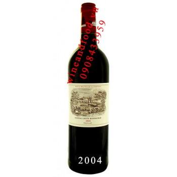 Rượu vang chateau Lafite Rothschild Grand Cru Classe 2004