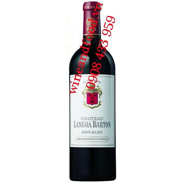 Rượu vang chateau Langoa Barton 3ème Cru Classé 2009