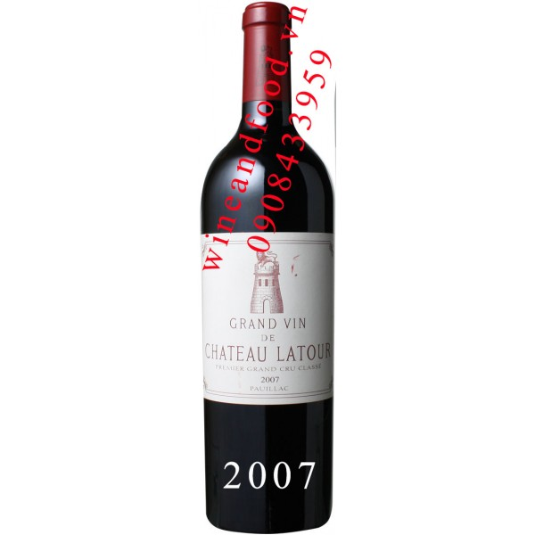 Rượu vang chateau Latour Grand Cru Classe 2007