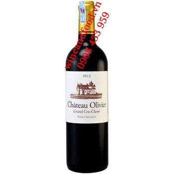 Rượu vang chateau Olivier Grand Cru Classe 2013
